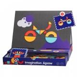Carte magnetica educativa 2 in 1, puzzle creativ, 129 piese