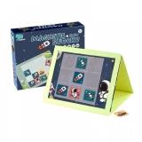 Joc educativ Sudoku cu tablita magnetica si cartonase spatiu, albastru