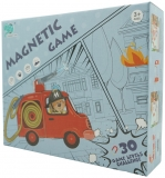 Joc educativ magnetic de interconectare Micul Pompier, multicolor