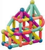Set 25 piese magnetice de constructie, multicolore