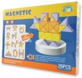 Set inteligent de constructie cu piese magnetice, 26 piese
