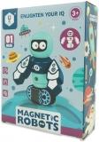 Set inteligent de blocuri magnetice pentru copii, model Robotel albastru