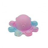 Jucarie senzoriala antistres Pop it Now and Flip it, Push Bubble, Caracatita Reversibila, multicolora V6