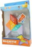 Set inteligent de constructie cu piese magnetice, 6 piese, multicolor