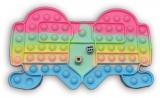 Joc antistres Pop it Now and Flip it, Push Bubble, 27 cm, cu zaruri, Among US multicolor