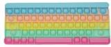 Jucarie senzoriala antistres Pop it Now and Flip it, Push Bubble, 27 cm, model Tastatura Macarons