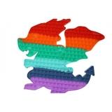 Jucarie senzoriala antistres Pop it Now and Flip it, 40 cm, model Dragon multicolor