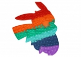 Jucarie senzoriala antistres Pop it Now and Flip it, 43 x 31 cm, model Pikachu multicolor