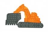 Jucarie senzoriala antistres Pop it Now and Flip it, 41 x 26 cm, model Excavator Model 2 multicolor