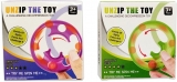Jucarie senzoriala antistres Pop it Now and Flip it, 8 cm, Spin Toy multicolor