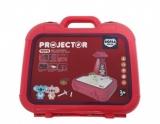 Jucarie educativa Proiector rosu, cu masa pentru desen si accesorii