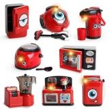 Set de joaca Mini aparate de uz casnic, 6 piese, culoare rosu