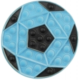 Jucarie senzoriala antistres Pop it Now and Flip it 16 cm, model Minge albastra