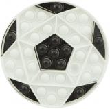 Jucarie senzoriala antistres Pop it Now and Flip it, 16 cm, model Minge alba