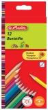 Creioane color triunghiular 1/1 set 12 buc/set Herlitz