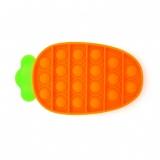 Jucarie senzoriala antistres Pop it Now and Flip it, 18 x 11 cm, model Morcov multicolor