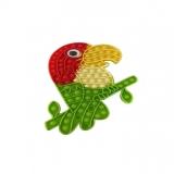 Jucarie senzoriala antistres Pop it Now and Flip it, 30 x 14 cm, model Papagal multicolor