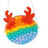 Geanta Pop it Now and Flip it, 17 cm, model Cerb multicolor