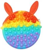 Geanta Pop it Now and Flip it, 17 cm, model Iepure multicolor
