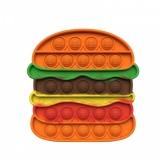 Jucarie antistres senzoriala Pop it Now, 14 cm, model Hamburger