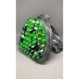 Rucsac Pop it Now, 19 cm, model verde/gri
