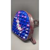 Rucsac Pop it Now, 19 cm, model albastru/roz