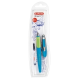 Stilou My.Pen, penita M, albastru/neon Herlitz