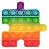 Jucarie senzoriala antistres Pop it Now and Flip it, Push Bubble, 10 cm, model Puzzle multicolor
