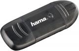 Cititor de card SD, MMC, SDHC, SDXC, USB 2.0, negru Hama