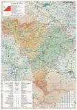 Harta Judetului Alba 70 x 100 cm sipci plastic