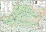 Harta Judetului Arad 100 x 70 cm sipci plastic