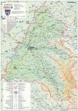 Harta Judetului Bihor 70 x 100 cm sipci plastic