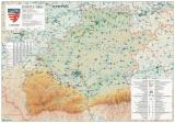Harta Judetului Sibiu 100 x 70 cm sipci plastic