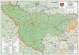 Harta Judetului Timis 100 x 70 cm sipci plastic