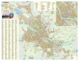 Harta Municipiului Oradea BH 100 x 70 cm sipci de plastic