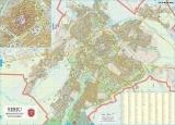 Harta Municipiului Sibiu SB 100 x 70 cm sipci de plastic