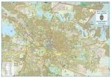 Harta Bucuresti Zona Centrala 100 x 70 cm sipci plastic