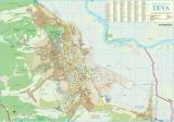 Harta Municipiului Deva HD 70 x 50 cm sipci de plastic