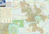 Harta Municipiului Arad AR 100 x 70 cm sipci de plastic