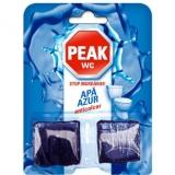 Odorizant wc apa Azur Mega Pack 4 x 50 gr Peak