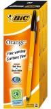 Cutie pix 20 bucati Orange Fine negru Bic