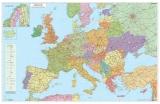 Harta Europa Rutiera 140 x 100 cm sipci lemn