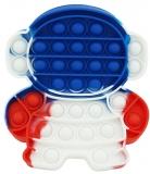 Jucarie senzoriala antistres Pop it Now and Flip it, 15 cm, model Astronaut multicolor