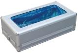 Dispenser din aluminiu pentru protectie incaltaminte, cu mecanism metalic