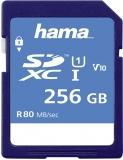 Card de memorie SDXC, 256GB, Clasa 10 UHS-I 80 MB/s Hama