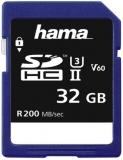 Card de memorie SDHC, 32 GB Clasa 3 UHS-II 200 MB/s Hama