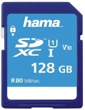Card de memorie SDXC, 128 GB Clasa 10 UHS-I 80 MB/s Hama