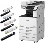 Pachet multifunctional ImageRunner C3525i, laser, color, A3 + piedestal + DADF + 4 tonere Canon