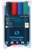 Marker whiteboard 290, 4 culori/set Schneider