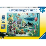 Puzzle Animale Subacvatice, 100 Piese Ravensburger